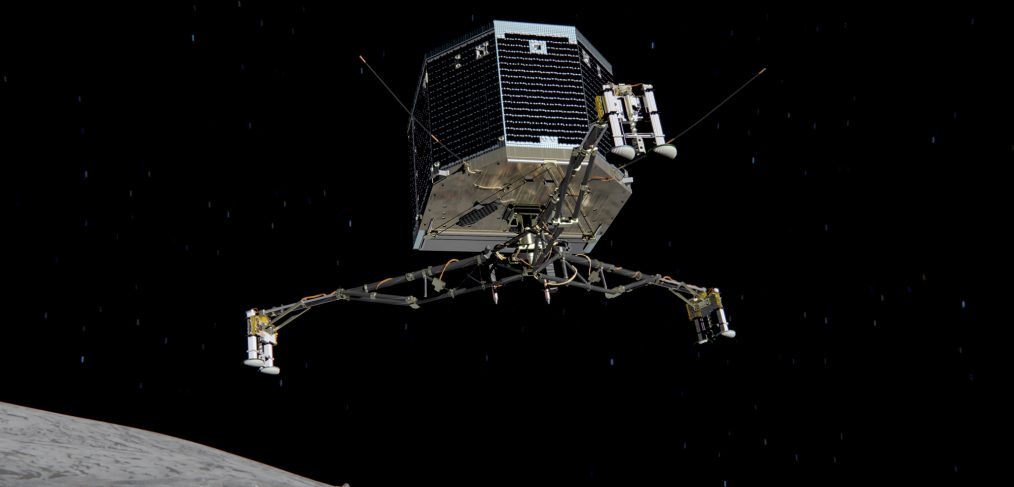 philae descent on churiumov guerasimeko