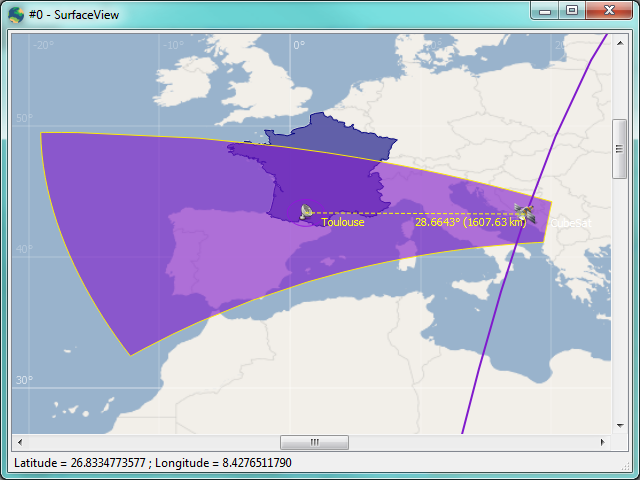 Geometrical visibility displayed in SurfaceView